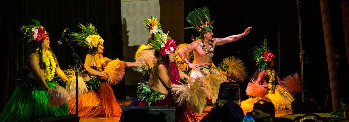 Teva Oriata Polynesian dance troupe performs on the main stage